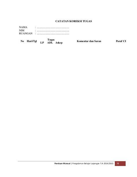format askep perioperatif panduan manual pengalaman belajar lapangan 2014 1