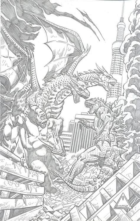 godzilla vs mothra coloring pages king kong and godzilla vs ghidorah monsters pinterest