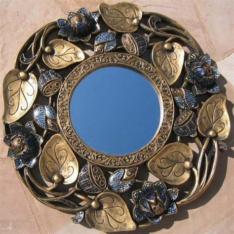 Decorated Mirrors by Nongnit S Treasures Decorative Mirrors Handcrafted