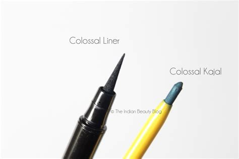 Eyeliner Coloasal Kajal Maybelline new maybelline colossal liner kajals review swatches price