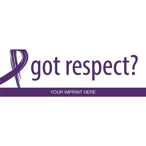 domestic violence awareness color domestic violence awareness bumper stickers quot got respect