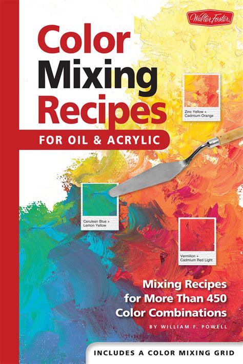 color mixing recipes for acrylic techniques painting book qbookshop