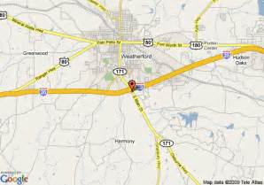 map of comfort suites weatherford weatherford