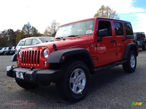 jeep unlimited red 2015 jeep wrangler unlimited sport 4x4 in firecracker red