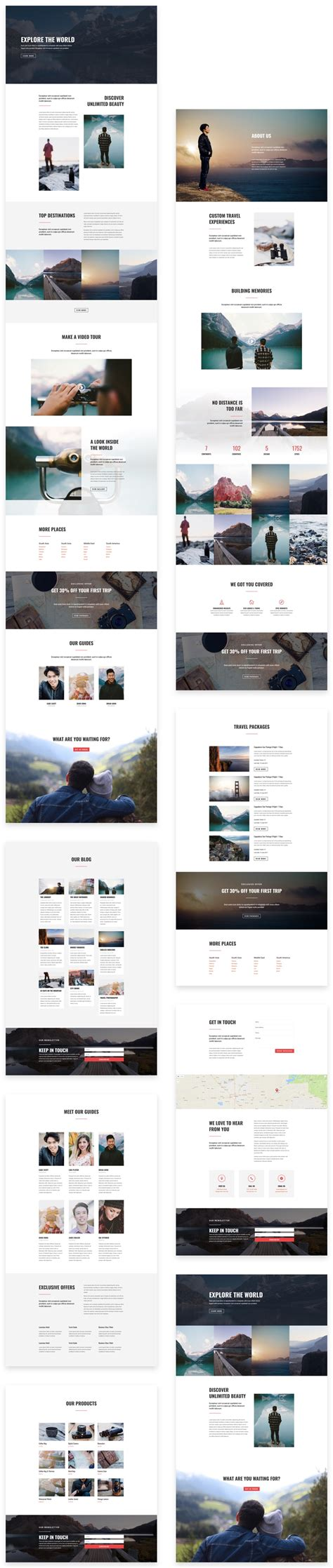 blog layout divi theme stunning free divi layout pack for travel websites