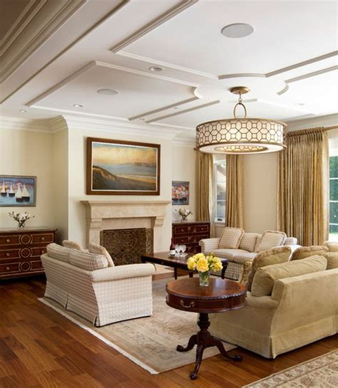 Living Room Ceiling by Living Room With Graceful And Understated Ceiling And