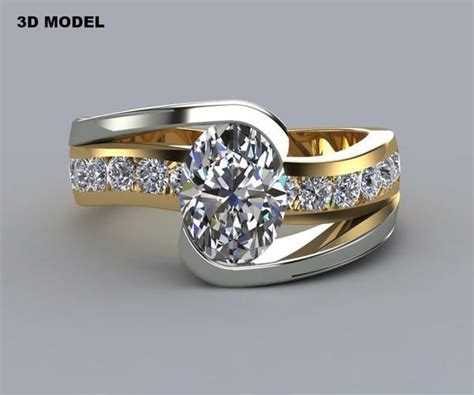two tone oval curved wedding ring redesigned ring