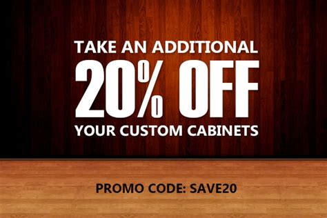 Just Cabinets Coupons by Save 20 Custom Kitchen Cabinets