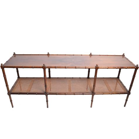 faux sofa table faux bamboo and rattan console table by baker furniture at