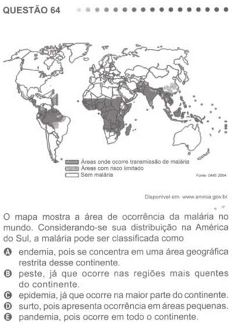 Questão 64 - Prova Azul - Enem 2011 - Brasil Escola
