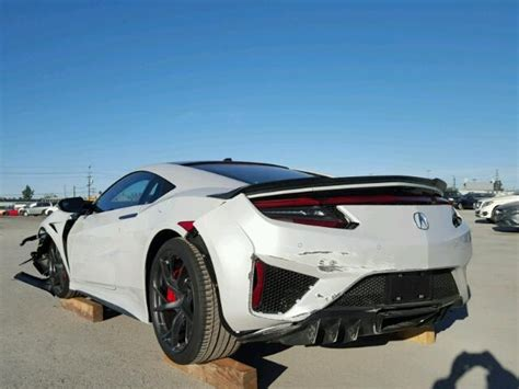 salvage acura nsx for sale there s a wrecked 2017 acura nsx for sale at salvage yard