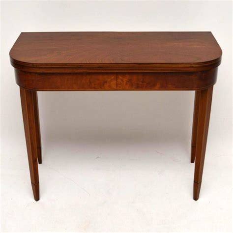 Card Tables For Sale by Antique Georgian Style Inlaid Mahogany Card Table For Sale At 1stdibs
