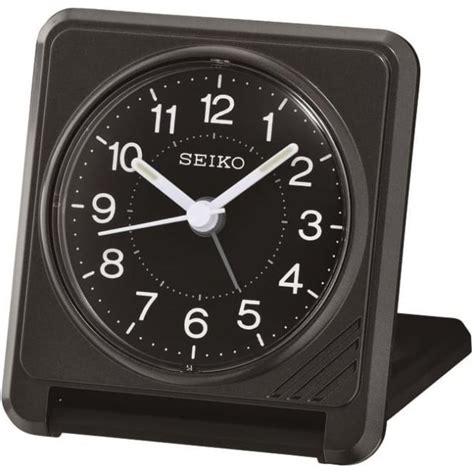 seiko travel alarm folding clock qht015k