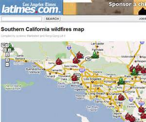 current southern california map track california fires via mashups programmableweb