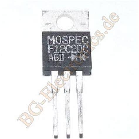transistor mosfet f12c20c transistor mosfet f12c20c 20 images transistor mosfet tutorial najjednostavniji smps 220vac