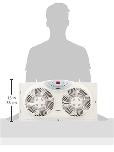 bionaire twin window fan bionaire twin reversible airflow window fan with remote