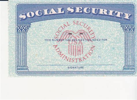 Editable Social Security Card Template by Social Security Card Template Beepmunk