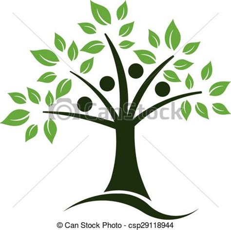 Eps Vector Of Tree Teamwork Logo Csp29118944 Search Clip Art Illustration Drawings And Teamwork Tree Logo Vector Stock Vector Illustration Of Ecology Leafs 34023988