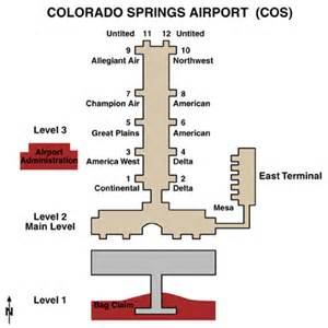 colorado springs airport airport maps maps and