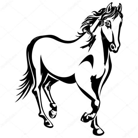 mustang horse silhouette mustang horse outline coloring pages