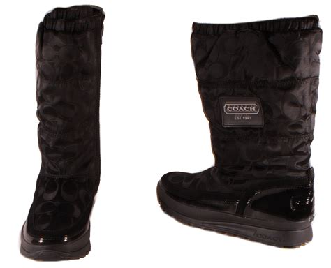coach demure 12cm signature c ny womens black or grey