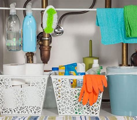organize cosmetics toiletries the tricks easy under storage ideas make best use of your under the sink space