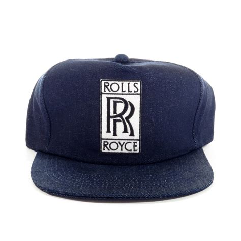 rolls royce denim snapback hat sgmc snap goes my cap