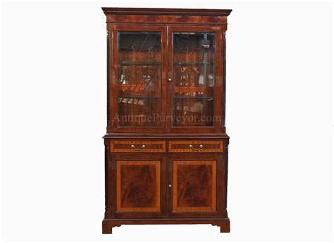 High end Mahogany china cabinet   Two door china cabinet   eBay