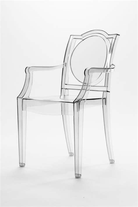 sedia ghost sedia ghost trasparente policarbonato con braccioli la16