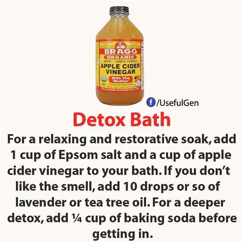 Detox Smell by A Week I Just Add 2 3 Cups Of Acv Apple Cider