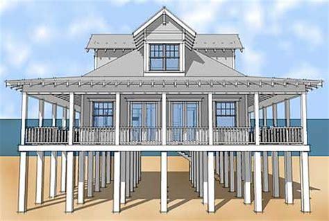 Narrow Lot Beach House Plans On Pilings   Anelti.com