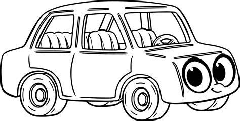 cartoon car coloring page detail of cartoon car coloring pages cartoon car