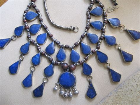 Handmade Tribal Jewellery - afghan lapis lazuli necklace handmade tribal jewelry