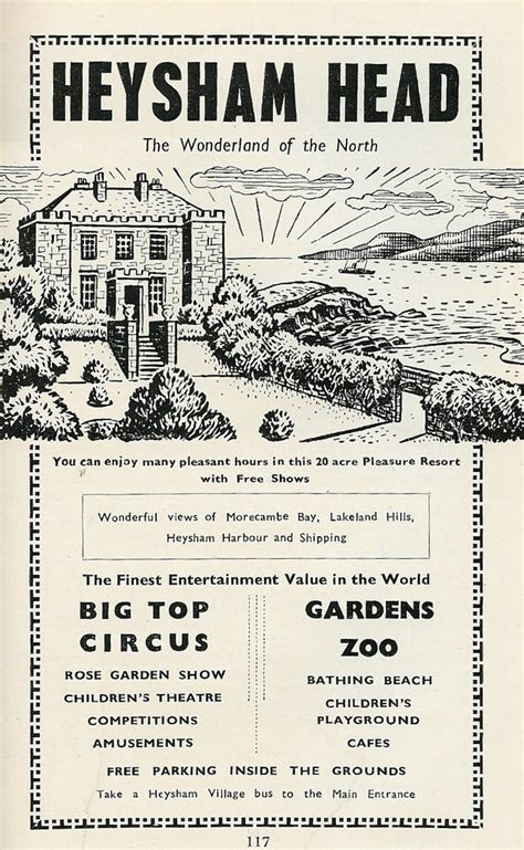 Advertisement for Heysham Head, Morecambe 1962   Travel