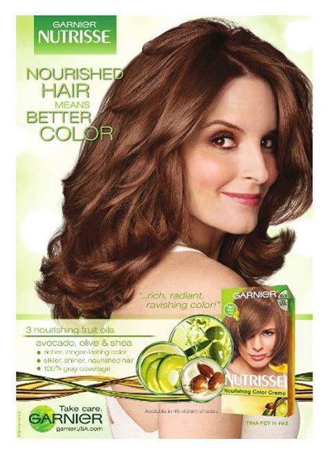 what shade of garnier does tina fey use garnier nutrisse commercial with tina fey hairstyle