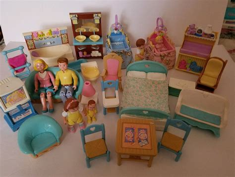 fisher price doll house furniture large lot 1993 fisher price dollhouse furniture and family people aeoffers