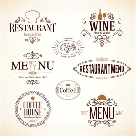 design menu cafe vector restaurant food menu logos vector design 01 welovesolo