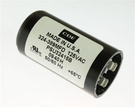 applications of capacitor start motor psu32415b cde capacitor 324uf 125v application motor start 2020061511