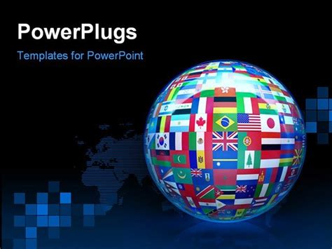 Best Globewidflags Powerpoint Template Lobalize The Flags Of The World Powerpoint