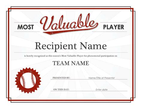 basketball mvp certificate template most valuable player award certificate office templates