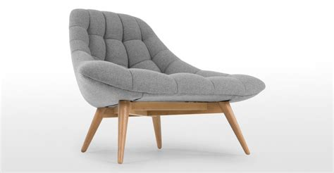 feature armchairs armchair in whisper grey wool kolton made com