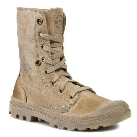 palladium hiking boots hiking boots palladium baggy leather 02356201 taupe