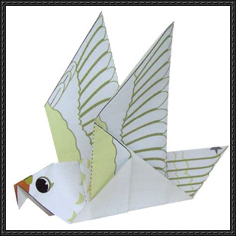 new paper craft canon papercraft pigeon origami free