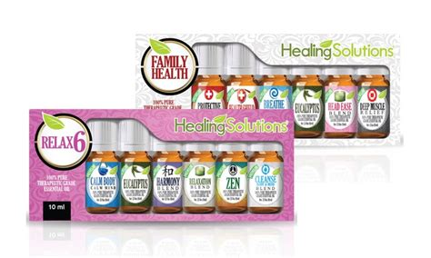 Healing Solutions Ease Blend 2 therapeutic essential oils set livingsocial shop