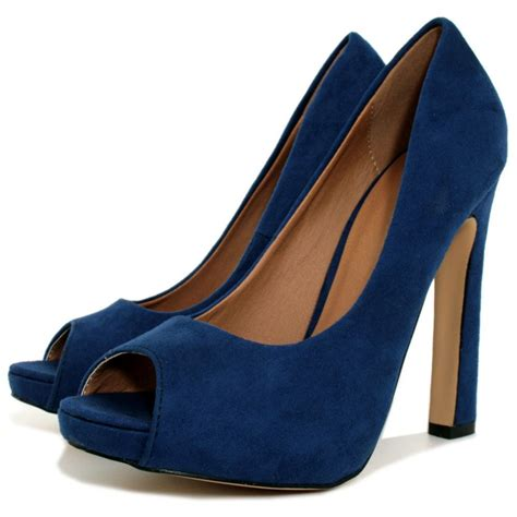 suede style curved heel concealed platform court shoes