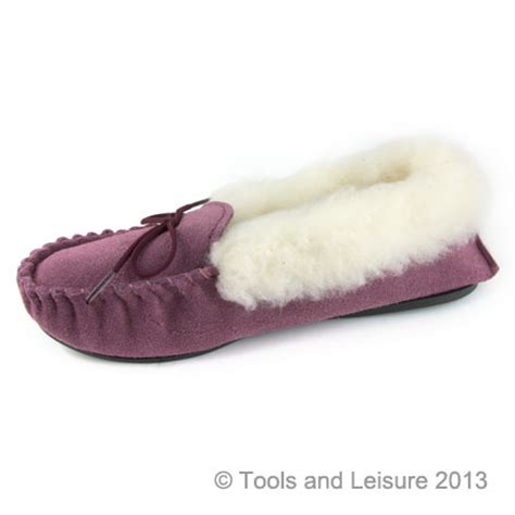 fur lined slippers moccasin slippers fur lined size 6 plum tools leisure
