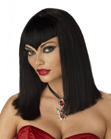 wigs for 50 plus women black sexy vire wig candy apple costumes plus size