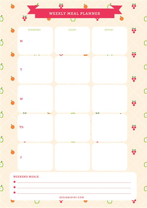 9 best images of cute printable weekly planners 2015 7 best images of cute printable weekly planner free