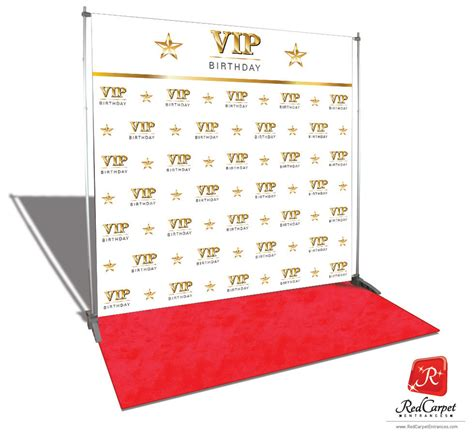 design red carpet backdrop vip birthday backdrop red carpet kit white 8x8 red