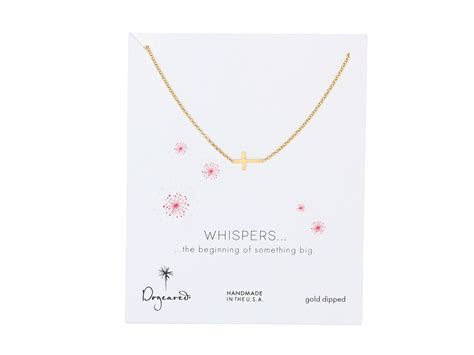 dogeared 16 quot whispers cross necklace silver zappos